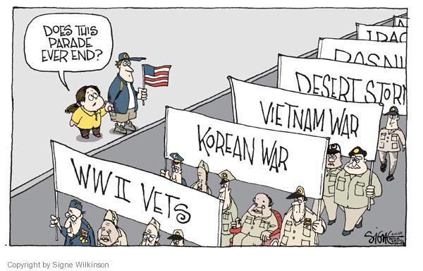 Cartoonist Signe Wilkinson  Signe Wilkinson's Editorial Cartoons 2010-11-11 World War II