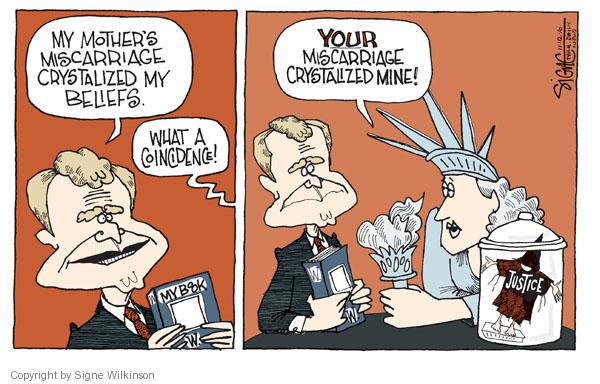Signe Wilkinson  Signe Wilkinson's Editorial Cartoons 2010-11-12 George Bush