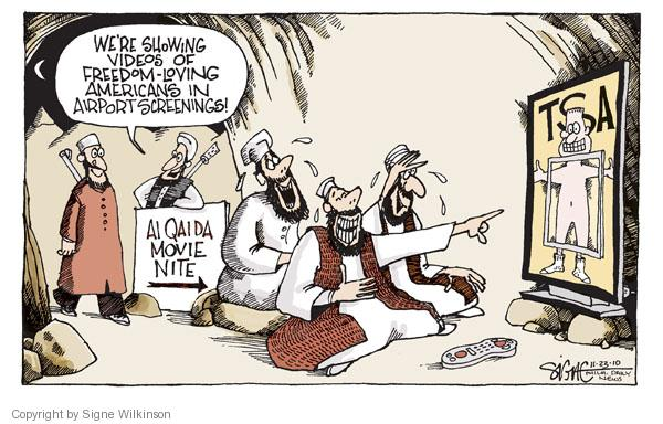 Cartoonist Signe Wilkinson  Signe Wilkinson's Editorial Cartoons 2010-11-23 terrorist