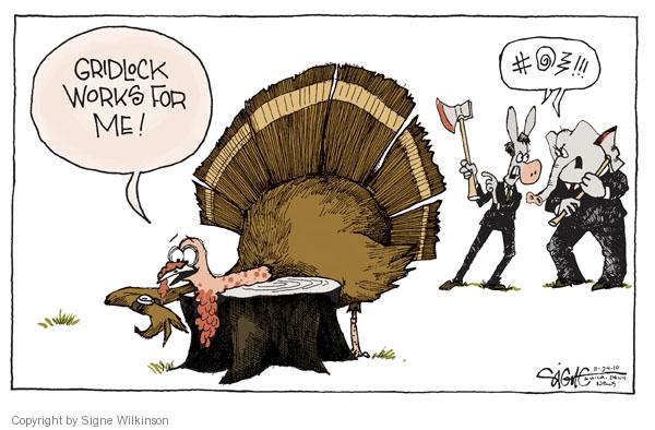 Cartoonist Signe Wilkinson  Signe Wilkinson's Editorial Cartoons 2010-11-24 argument