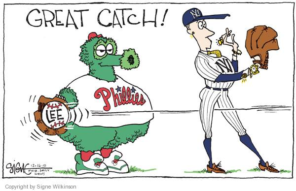Signe Wilkinson  Signe Wilkinson's Editorial Cartoons 2010-12-16 baseball player