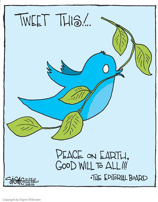 Signe Wilkinson  Signe Wilkinson's Editorial Cartoons 2010-12-24 bird