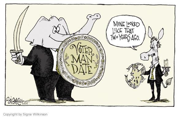 Signe Wilkinson  Signe Wilkinson's Editorial Cartoons 2011-01-08 Democratic voter