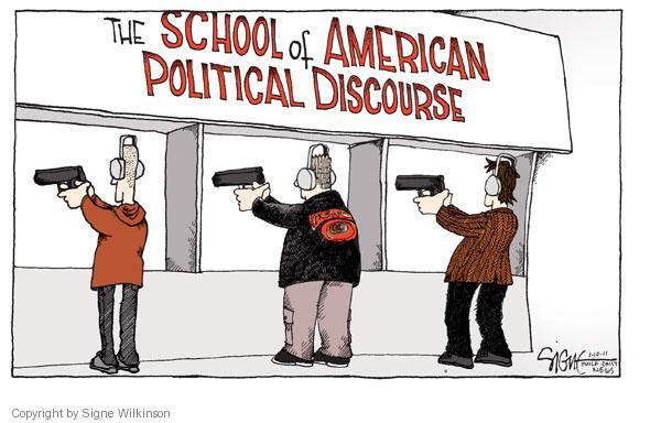 Signe Wilkinson  Signe Wilkinson's Editorial Cartoons 2011-01-10 handgun