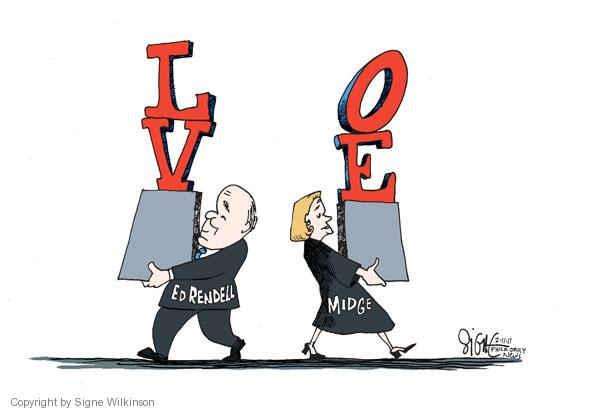 Signe Wilkinson  Signe Wilkinson's Editorial Cartoons 2011-02-11 separation