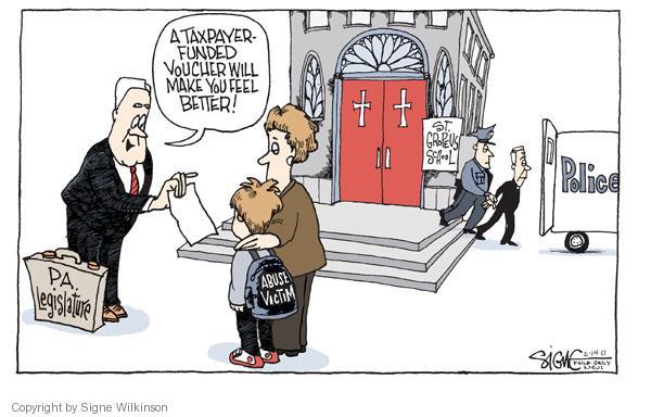 Cartoonist Signe Wilkinson  Signe Wilkinson's Editorial Cartoons 2011-02-14 sexual