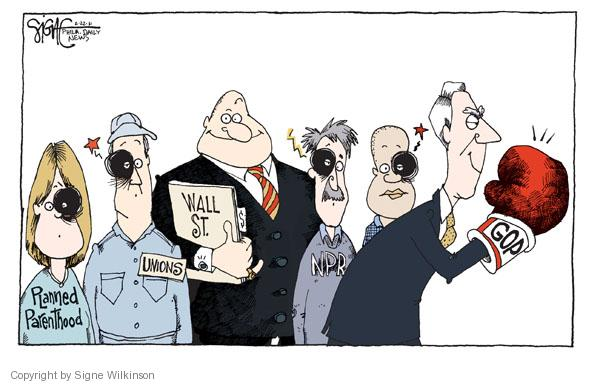 Cartoonist Signe Wilkinson  Signe Wilkinson's Editorial Cartoons 2011-02-22 finance