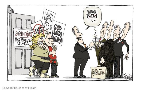 Cartoonist Signe Wilkinson  Signe Wilkinson's Editorial Cartoons 2011-03-07 court decision