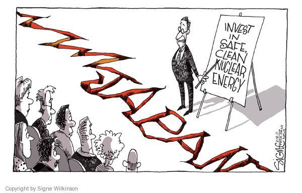 Cartoonist Signe Wilkinson  Signe Wilkinson's Editorial Cartoons 2011-03-14 nuclear power