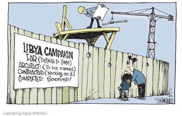 Cartoonist Signe Wilkinson  Signe Wilkinson's Editorial Cartoons 2011-03-29 military leadership