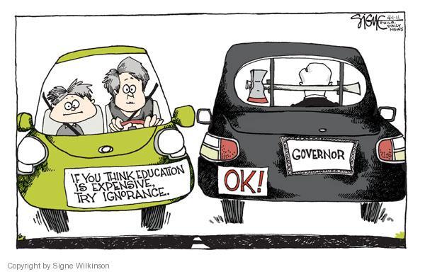 Cartoonist Signe Wilkinson  Signe Wilkinson's Editorial Cartoons 2011-04-02 governor