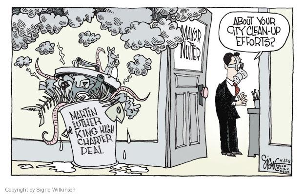 Cartoonist Signe Wilkinson  Signe Wilkinson's Editorial Cartoons 2011-04-27 education reform