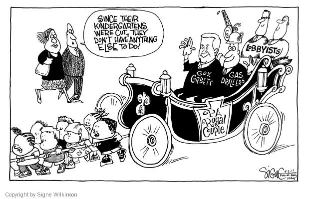 Cartoonist Signe Wilkinson  Signe Wilkinson's Editorial Cartoons 2011-05-02 political lobby