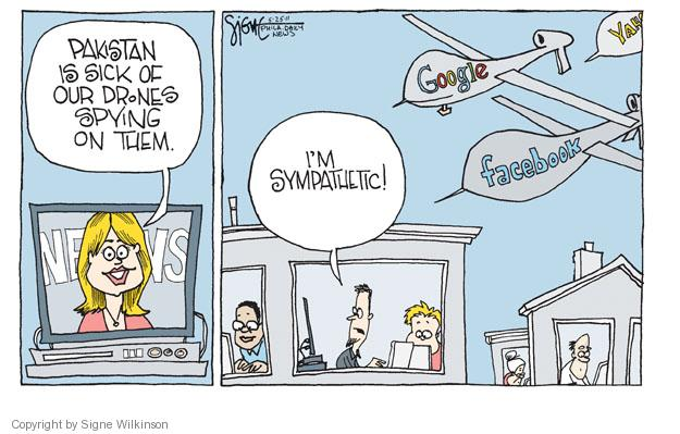Signe Wilkinson  Signe Wilkinson's Editorial Cartoons 2011-05-25 computer privacy