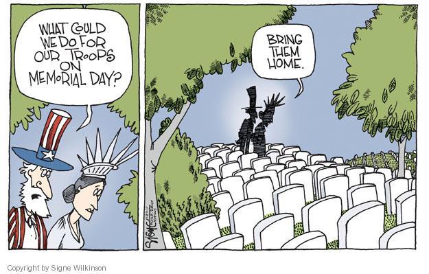 Signe Wilkinson  Signe Wilkinson's Editorial Cartoons 2011-05-27 Veterans Day