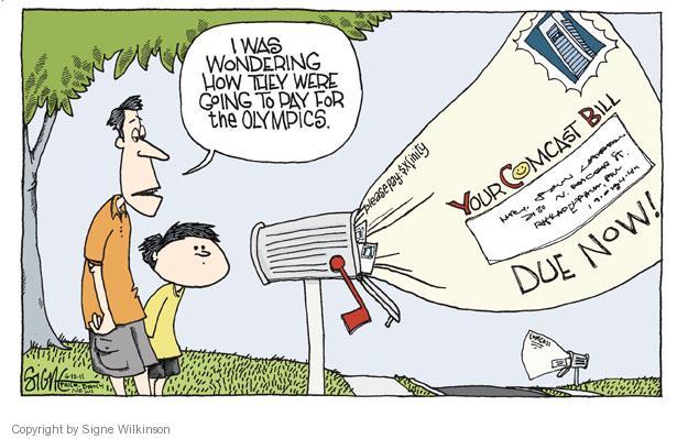 Cartoonist Signe Wilkinson  Signe Wilkinson's Editorial Cartoons 2011-06-10 cost