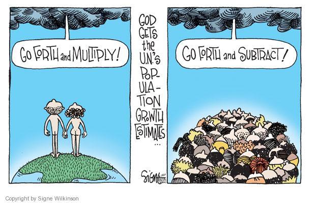 Signe Wilkinson  Signe Wilkinson's Editorial Cartoons 2011-06-14 population