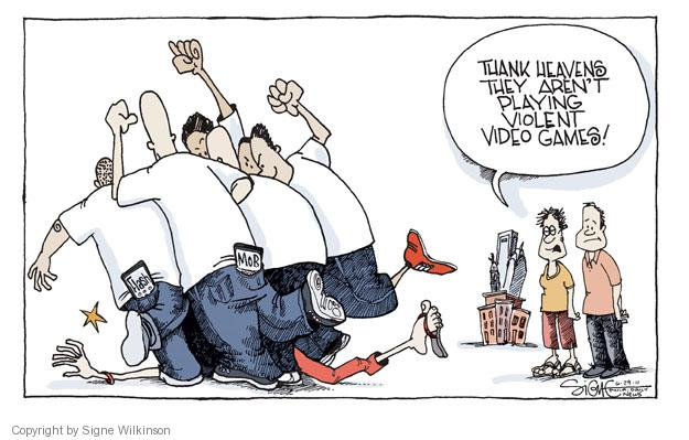 Cartoonist Signe Wilkinson  Signe Wilkinson's Editorial Cartoons 2011-06-29 political behavior
