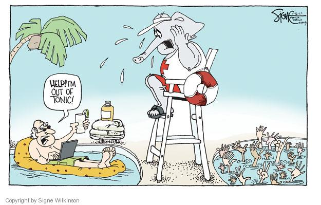 Cartoonist Signe Wilkinson  Signe Wilkinson's Editorial Cartoons 2011-07-12 wealth