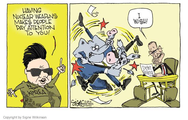 Signe Wilkinson  Signe Wilkinson's Editorial Cartoons 2011-07-29 distraction