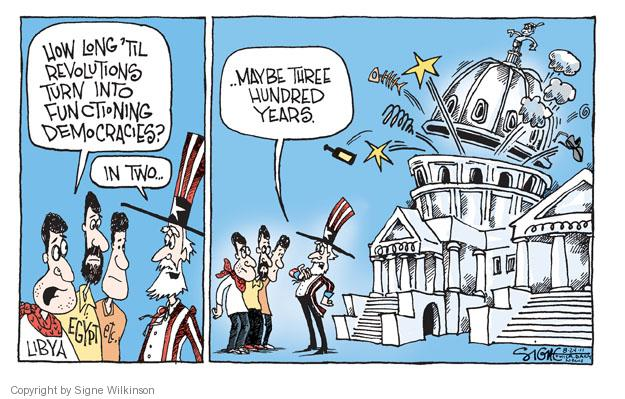 Cartoonist Signe Wilkinson  Signe Wilkinson's Editorial Cartoons 2011-08-24 New Year