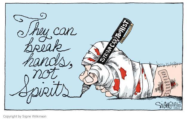 Signe Wilkinson  Signe Wilkinson's Editorial Cartoons 2011-08-29 Arab revolt
