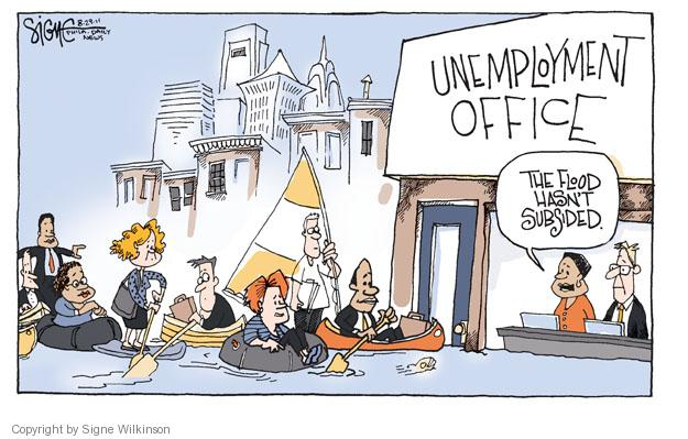 Cartoonist Signe Wilkinson  Signe Wilkinson's Editorial Cartoons 2011-08-28 flood
