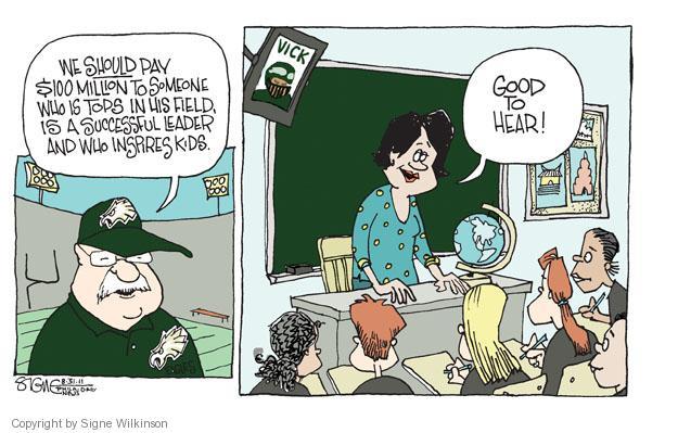 Signe Wilkinson  Signe Wilkinson's Editorial Cartoons 2011-08-31 political leader