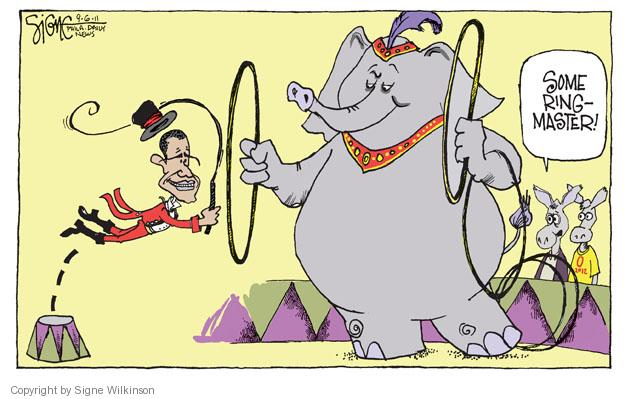 Signe Wilkinson  Signe Wilkinson's Editorial Cartoons 2011-09-05 Obama republicans