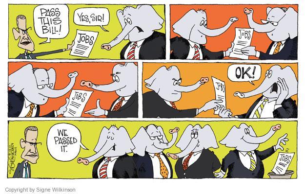 Signe Wilkinson  Signe Wilkinson's Editorial Cartoons 2011-09-12 Obama republicans