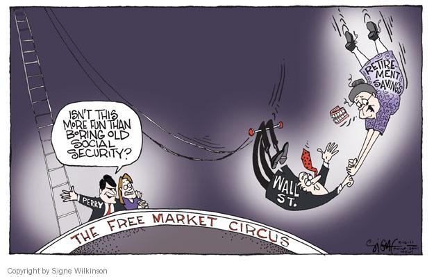 Signe Wilkinson  Signe Wilkinson's Editorial Cartoons 2011-09-16 free market