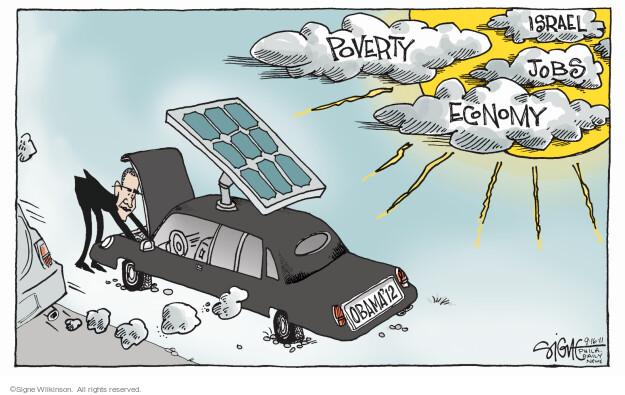 Obama 12. Poverty, Israel, Jobs Economy.