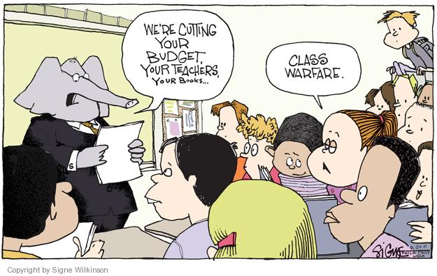 Cartoonist Signe Wilkinson  Signe Wilkinson's Editorial Cartoons 2011-09-20 school book