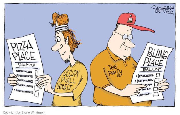 Cartoonist Signe Wilkinson  Signe Wilkinson's Editorial Cartoons 2011-10-12 place
