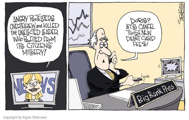 Cartoonist Signe Wilkinson  Signe Wilkinson's Editorial Cartoons 2011-10-25 cancel