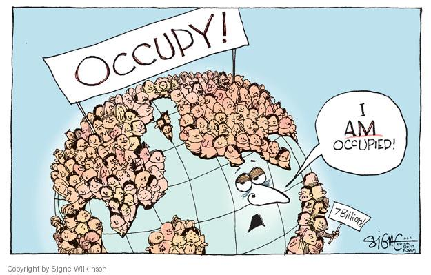 Signe Wilkinson  Signe Wilkinson's Editorial Cartoons 2011-11-02 population