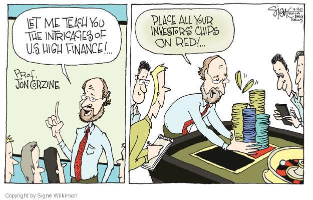 Cartoonist Signe Wilkinson  Signe Wilkinson's Editorial Cartoons 2011-11-04 professor