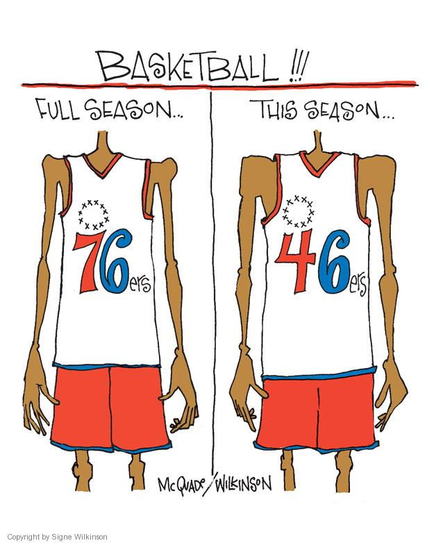 Cartoonist Signe Wilkinson  Signe Wilkinson's Editorial Cartoons 2011-11-05 professional basketball