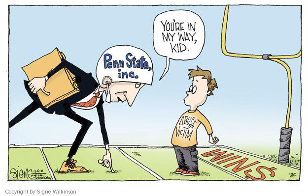Signe Wilkinson  Signe Wilkinson's Editorial Cartoons 2011-11-09 dollar