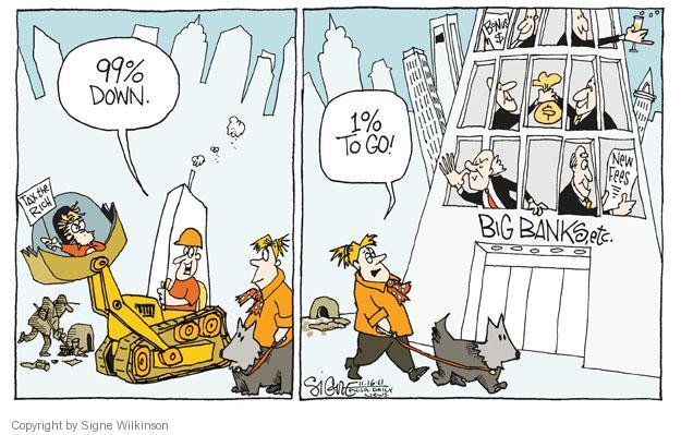 Signe Wilkinson  Signe Wilkinson's Editorial Cartoons 2011-11-16 banker