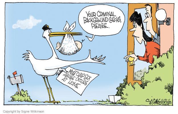 Cartoonist Signe Wilkinson  Signe Wilkinson's Editorial Cartoons 2011-11-17 sexual abuse