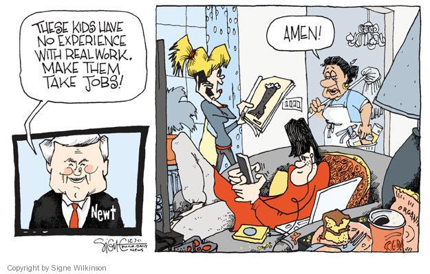 Cartoonist Signe Wilkinson  Signe Wilkinson's Editorial Cartoons 2011-12-07 real