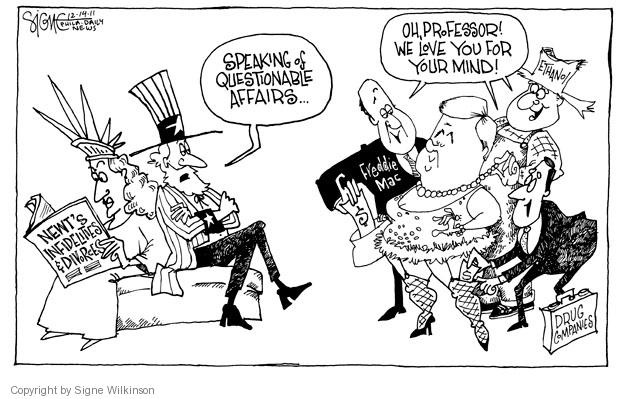Cartoonist Signe Wilkinson  Signe Wilkinson's Editorial Cartoons 2011-12-14 political lobby