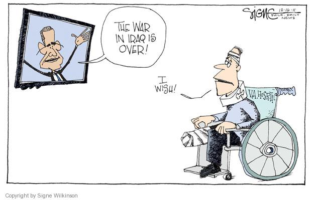 Cartoonist Signe Wilkinson  Signe Wilkinson's Editorial Cartoons 2011-12-16 military wounded