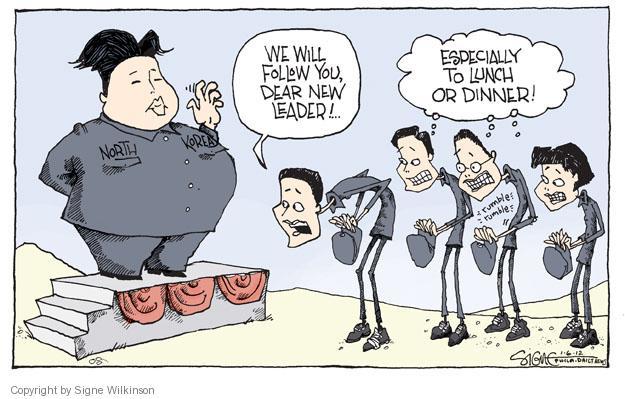 Signe Wilkinson  Signe Wilkinson's Editorial Cartoons 2012-01-06 political leader