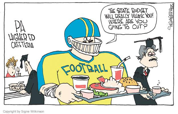 Cartoonist Signe Wilkinson  Signe Wilkinson's Editorial Cartoons 2012-02-13 college professor