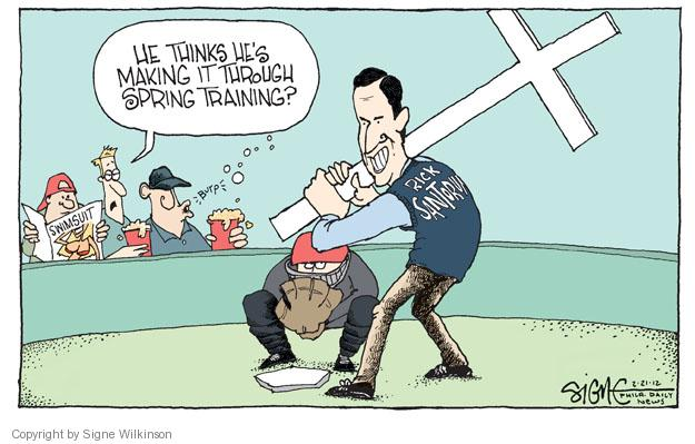 Signe Wilkinson  Signe Wilkinson's Editorial Cartoons 2012-02-21 baseball