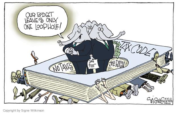 Cartoonist Signe Wilkinson  Signe Wilkinson's Editorial Cartoons 2012-04-04 wealth