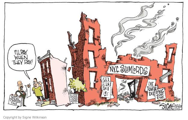 Cartoonist Signe Wilkinson  Signe Wilkinson's Editorial Cartoons 2012-04-18 property tax