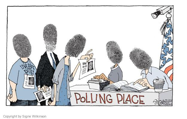 Signe Wilkinson  Signe Wilkinson's Editorial Cartoons 2012-04-24 voting rights
